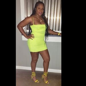 House of CB lime green dress